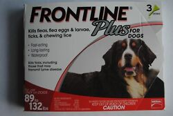 Frontline Plus for Extra Large Dogs 89 132 lbs. 3 month USA EPA Approved $29.88
