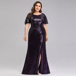 Ever Pretty US Plus Size Long Sequins Evening Dress Fishtail Homecoming Cocktail $46.99