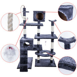 78quot; Cat Tree Condo Furniture Scratch Post Pet Play House Home Gym Tower Navy $84.99