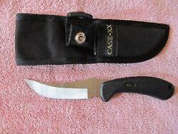 CASE knife fixed 4 inch curved blade with sheath says CASE XX can't see a number