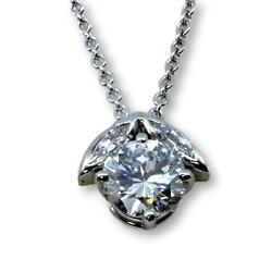 Platinum 1.30ctw Diamond Pendant & 14K Gold 15