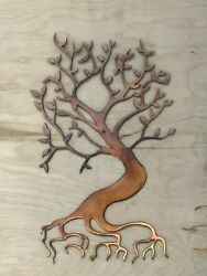 Bonsai Tree Wall Metal Art Hanging with Rustic Copper Finish $29.95