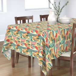 Tablecloth Nautical Sail Boats Stripes Summer Holiday Beach Cotton Sateen