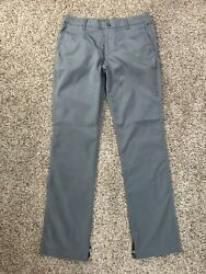 Bonobos Maide Golf Pants Gray Silver Shiny Men's Size 32 X 34