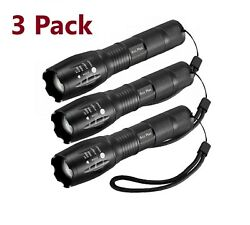 3 x Tactical 18650 Flashlight Ultrafire T6 High Powered 5Modes Zoomable Aluminum $11.45