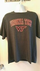 Virginia Tech Champion Charcoal Gray T Shirt Mens XLarge NCAA Football