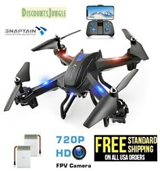 SNAPTAIN S5C WiFi FPV Drone with 720P HD Camera Voice Control Live Video 4 AXIS $48.95