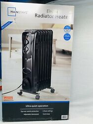 Mainstays Oil Filled Electric Radiant Space Heater Black #HO-0270B $38.99