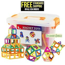 GLOUE Magnetic Blocks Building BlocksToy Contain Squa 64 piece for Girls amp; Boys $22.99