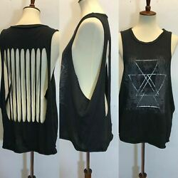 Swell Womens Cut Out Black Tank Top Size M Bl3 $14.95
