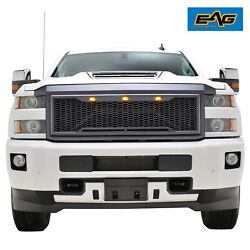 EAG Fit for 2015-2019 Chevy Silverado 25003500 Mesh Grille Upper W LED Light $113.00
