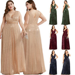Ever-Pretty US Plus Size V-neck Long Evening Prom Dresses Holiday Celebrity Gown $42.29
