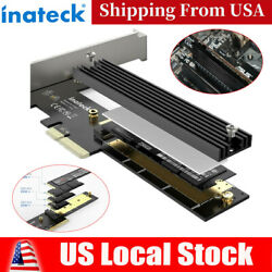 Inateck M.2 PCIe Adapter PCIe x4 to M.2 SSD NVMe Card w Heatsink Support 2280 $9.91