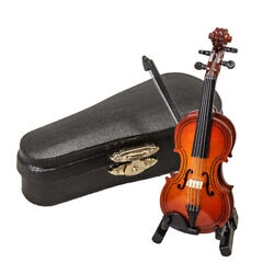 Sky Mini Violin Classic Natural Finish Acoustic Miniature Violin with Stand Bow $14.99