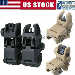 USA Premium Pair Flip-up Tactical Sight Folding Sights Front and Rear Set $10.99