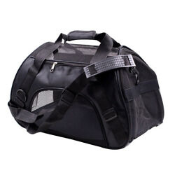 Pet Carrier Soft Sided Puppy Kitten Cat Dog Tote Bag Travel Airline Approved $15.96