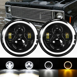 2X 7'' Round LED Headlights for 1953-1957 Chevrolet Bel Air150210 Impala Ford $97.99