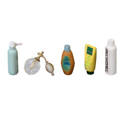 1 12 Dollhouse Furniture Mini Bathroom Products Perfume Shampoo Bath Gel Set $7.51