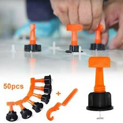 50x Flat Ceramic Floor Wall Construction Tools Reusable Leveling System Kit