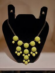 J. Crew Chartreuse Green Chandelier Necklace $24.95