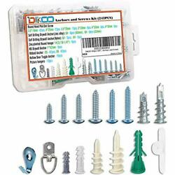 242pcs Self Drilling Drywall Anchor Hollow Wall Easy Drive With Screws Kit 7 $16.72