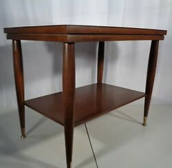 Vintage Mid Century Modern Mersman 8196 2 Tier End Side Accent Table 1960's
