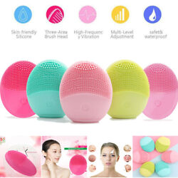 Facial Silicone Electric Face Cleansing Brush Rechargeable Cleanser Skin Care $6.55