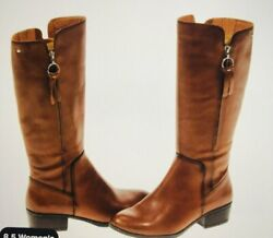 PIKOLINOS Daroca Womens Boots Size 9 Brown Leather Calf Zip W1U 9653 New $199.00