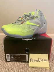 New Lebron James XI Collection Luster Volt Ice Shoe#x27;s Sz 10 $139.99