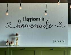 HAPPINESS IS HOME MADE HEART Vinyl Wall Decal Kitchen Decor Words Lettering Sign $9.95