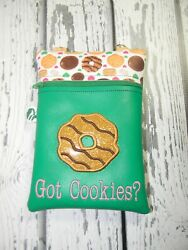 GIRLS SCOUT inspired Cookies bag to hold money when selling $10.00