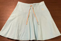 Lilly Pulitzer Pique Tennis Beach Skirt Blue Turquoise W Rainbow String Size XS $17.95