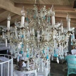 Vintage Beach Cottage 8-Light Chandelier