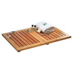Foldable Bamboo Floor and Shower Mat with Non Slip Bottom amp; Mold Resistant $34.99