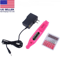 Electric Drill Nail File Acrylic Art File Manicure Pedicure Portable Machine Kit $14.95
