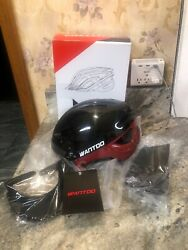 Open Box Wantdo Specialized Bike Safety Helmet W Removable Visor Black Red M L $25.46