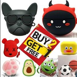 For AirPods PRO Cute 3D Cartoon Design Silicone Case Protective Cover Best $8.99