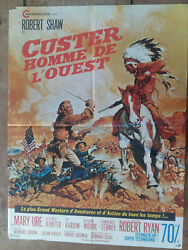 Poster Custer Mens OF THE WEST Robert Shaw Mary Ure Siodmak 23 5 8x31 1 2in $24.87