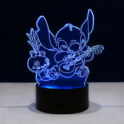 Lilo and Stitch Scrump LED Night Light Lamp Collectible Kids Gift Home Decor $24.95