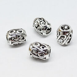 2pcs of 925 Sterling Silver Large Hole Spiral Barrel Beads for Bracelet Spacers $6.99