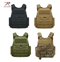 Rothco Modular Molle Plate Carrier Regular & 2XL Front & Black 10