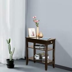 Coffee Sofa End Side Bedside Table Storage Bedroom w Drawer Nightstand Shelf US $38.98