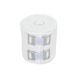 GT Soft Cotton Elastic Bandage Wrap With Metal Clips – Ace Your Recovery – White $5.75