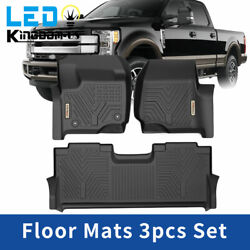 All Weather Floor Mats Liners for 17 21 Ford F 250 F350 F450 Super Duty Crew Cab $111.99