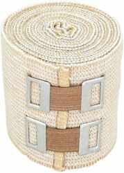 NexSkin Cotton Elastic Bandage Wrap With Metal Clips – Ace Your Recovery – Beige $5.85