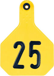 YTex 4 Star Large Cattle ID Ear Tags Yellow Numbered 1 25 $36.90