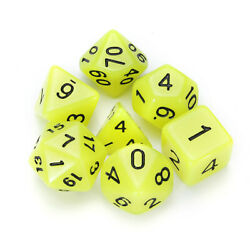 7 Pcs Luminous Polyhedral Dices Multi-Sided Dice Set Polyhedral Dices With Dice  $9.99