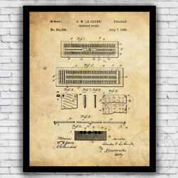 Cribbage Board Card Game 1800s Patent Art Print Decor Size and Frame Options $17.00