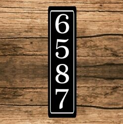 Personalized Home Address Sign Aluminum 3quot; x 12quot; Custom House Number Plaque sq9 $12.99