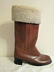 Eskiloos Red Ball Women#x27;s Size 10 Brown Boots Moulded Construction Fleece Lined